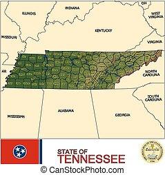 mapa, tennessee, hrabstwa