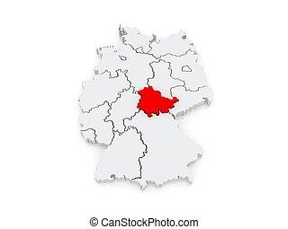 mapa,  thuringia, alemania