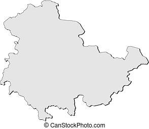 mapa,  thuringia,  (germany)