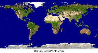 mapa tierra
