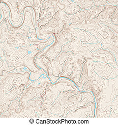 mapa, topográfico