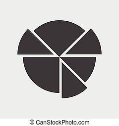 mapa, torta, ícone