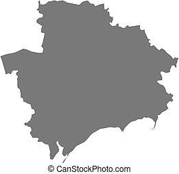 mapa, -, (ukraine), zaporizhia