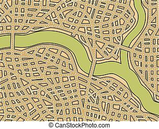 mapa, ulica, czysty