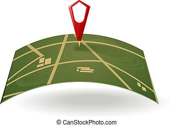 mapa, ulica