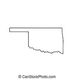 mapa, u..s.., estado, oklahoma