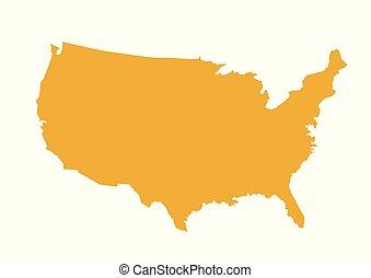 mapa, vector, estados unidos de américa, ilustración