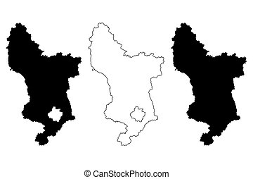 mapa, vetorial, derbyshire