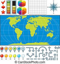 mapa, vetorial, equipamento