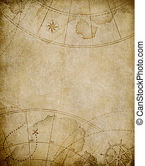 mapa, viejo, plano de fondo, copyspace