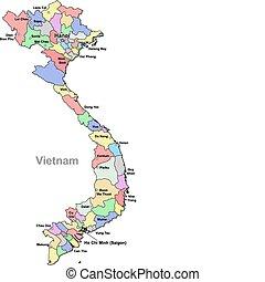 mapa, vietnam