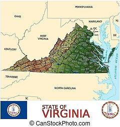 mapa, virgínia, municípios