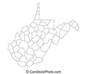 mapa, virgínia, oeste