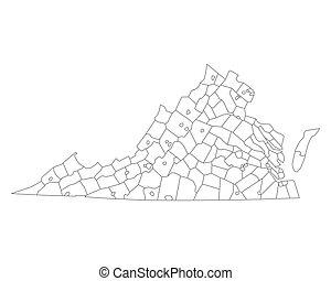 mapa, virgínia