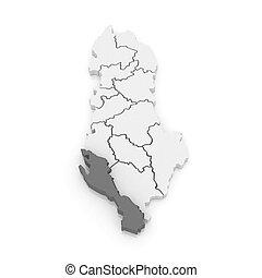 mapa,  vlora,  Albania
