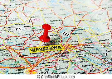 mapa, warszawa