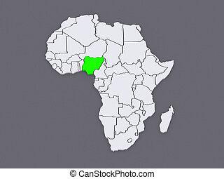 mapa, worlds., nigeria.