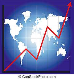 mapa, wykres, świat