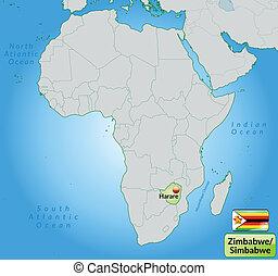 mapa, zimbabwe