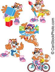 mapache, caricatura