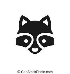 mapache, mínimo, icono