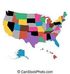 mapas, estado, jogo, nós