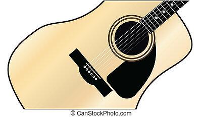 Maple Acoustic Guitar