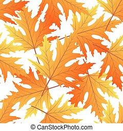 Maple autumn leaf seamless pattern. Fall background