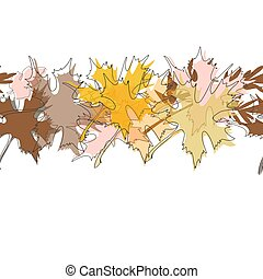 Maple fall leaves background