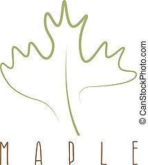 maple leaf abstract outline vector design template