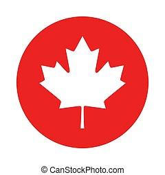 Maple leaf and circle