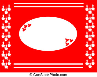 maple leaf background oval