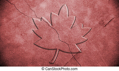 Maple leaf background red