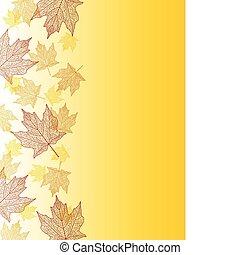 Maple leaf border - Fall maple leaf edge made of lace like...