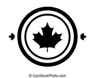 maple leaf canada in shape circle