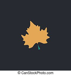 Maple Leaf computer symbol - Maple Leaf Color vector icon on...