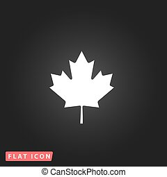maple leaf flat icon