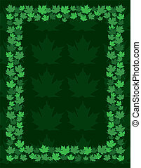 Maple Leaf Frame Border
