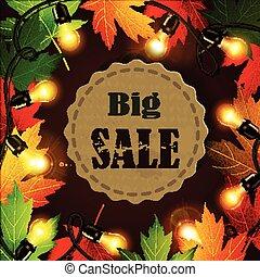 Maple leaf frame for seasonal sales