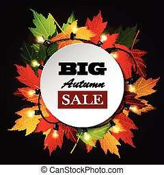 Maple leaf frame for seasonal sales