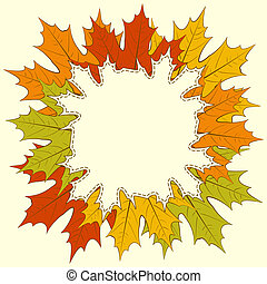 Maple Leaf Frame - Autumnal maple leaf frame, with space for...