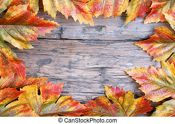 Maple Leaf Frame on Wood