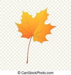 Maple leaf icon, flat style