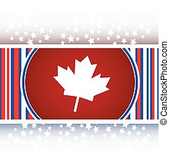 maple leaf icon glassy web button