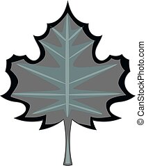 Maple leaf icon monochrome