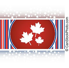 Maple leaf icon on web button vector