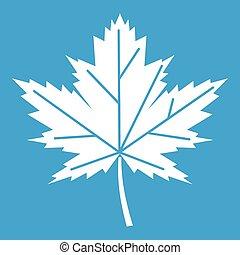 Maple leaf icon white
