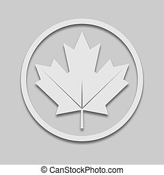 maple leaf in a circle in light tone