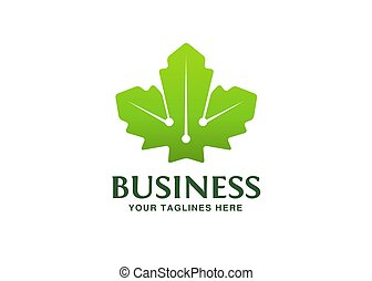 Maple leaf logo template vector icon