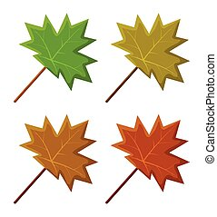maple leaf set vector symbol icon design.